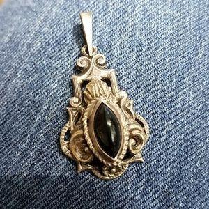 Black Onyx Gothic Style Pendant